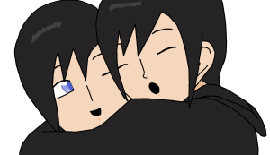riku-xion and xion hug